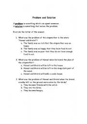 English Worksheets: Problem and Solution