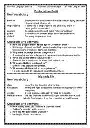 English Worksheets: Gulliver´s Travells