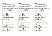 English Worksheets: Information Report Checklist