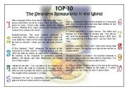 English Worksheets: TOP 10 The strangest Restaurants in the World