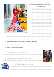 English Worksheets: Confessions of a shopaholic trailer