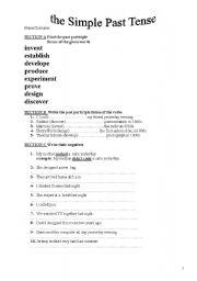 Worksheets Regular Past Tense Verbs Worksheets esl past tense worksheet regular verbs intrepidpath english teaching worksheets simple verbs