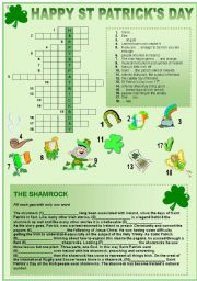 English Worksheets: St Patrick´s Day