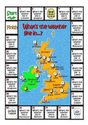 English Worksheet: What´s the weather like in...?