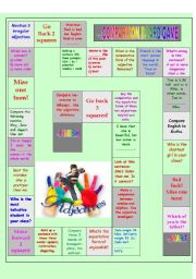 English Worksheets: Comparison board game 1