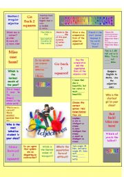 English Worksheet: Comparison board game 2