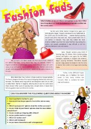 English Worksheet: FASHION (Part I)