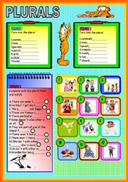 English Worksheets: PLURALS