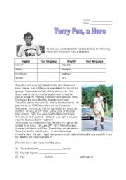 terry fox essay Terry fox in canadian history there are many famous people in my mind one really stands out among the rest his name is terrance stanley fox and he is one.