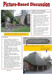 English Worksheet: Picture-Based Discussion (16): Sightseeing