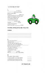 English worksheet: SINGING TIME