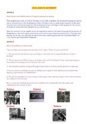 English Worksheet: civil rights movement