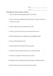 English Worksheets: Comprehension Questions for the movie