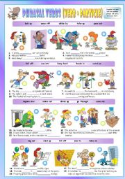 English Worksheet:  Phrasal Verbs (Ninth series). Exercises (Part 2/3). Key included!!!