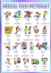 English Worksheets: Phrasal Verbs (Ninth series). Pictionary (Part 1/3). Go through = Examine