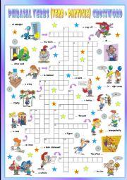 English Worksheet: Phrasal Verbs (Ninth series). Crossword (Part 3/3)