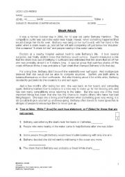 English Worksheets: Shark