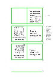 English Worksheet: Brown bear, brown bear, what do you see? - Minibook