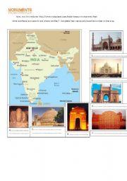English Worksheet: India Webquest part 3