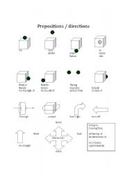 prepositions directions esl worksheet by lacoso. Black Bedroom Furniture Sets. Home Design Ideas