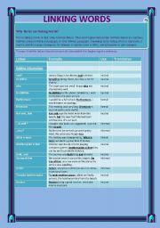 English Worksheet: Linking Words (edited)