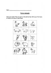 English Worksheets: animals