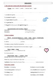 breathing blood circulation excretion esl worksheet by josfin. Black Bedroom Furniture Sets. Home Design Ideas