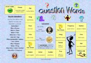 English Worksheet: Question Words Game