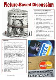 English Worksheet: Picture-Based Discussion (17): Money and Banks