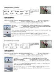 English Worksheet: KITE SURFING