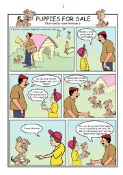 Puppies for Sale - comics