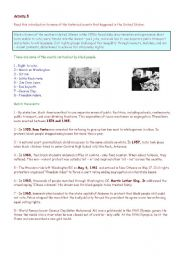 English Worksheet: Civil rights