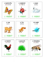 oral assessment cards-animals1
