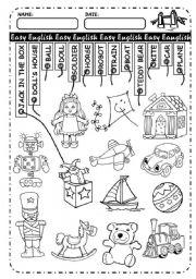 English Worksheet: Toys