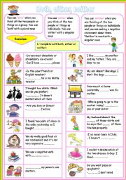 English Worksheets: BOTH/ EITHER/ NEITHER