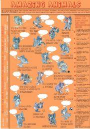 English Worksheet: Amazing animals PART 4