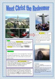 English Worksheets: Meet CHrist the Redeemer