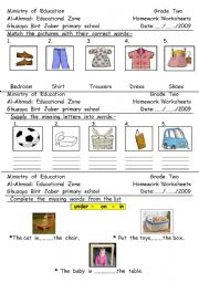 English worksheet: read  and  match