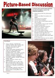 English Worksheet: Picture-Based Discussion (18): Music