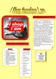 English Worksheets: I SHOP THEREFORE I AM