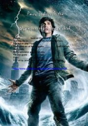 English Worksheet: Percy Jackson and the Olympians: the lightning thief. (based on the trailer)