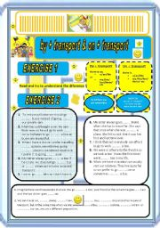 English Worksheets: BY & ON in TRANSPORT