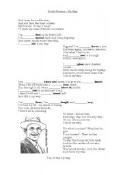 English Worksheet: Frank Sinatra - My way