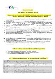 English teaching worksheets: At the market