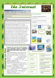 The internet( Activities for 9th form )