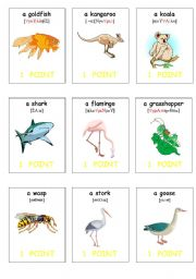oral assessment cards- animals2