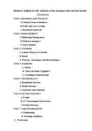 English Worksheets: management