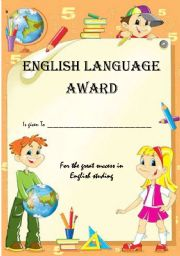 English Worksheet: English Award