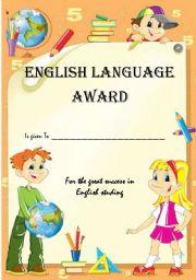 English Worksheets: English Award