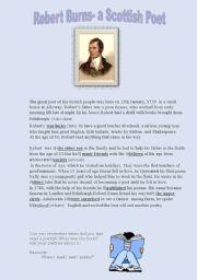English Worksheets: Robert Burns